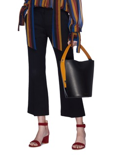 Danse Lente 'Lorna' keyhole strap mini colourblock bucket bag