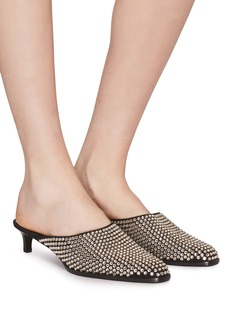 3.1 Phillip Lim 'Agatha' strass leather mules