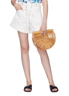 Cult Gaia 'Gaia's Ark' bamboo small caged saddle bag