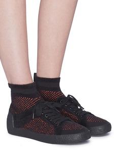 Ash 'Ninja' mixed knit sock sneakers