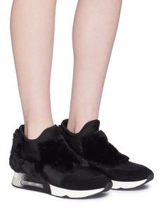 Ash 'Lazer Fur' panel slip-on sneakers