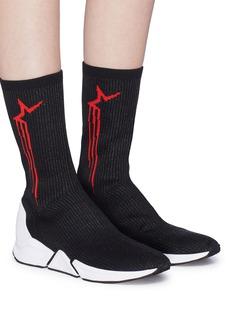 Ash 'Turbo' star intarsia knit sock sneaker boots