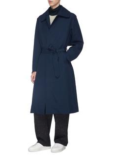 ETHOSENS Belted wool georgette coat