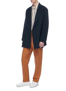 ETHOSENS Wool georgette long soft blazer
