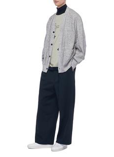 ETHOSENS Reversible care label print turtleneck sweatshirt