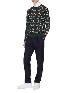 GCDS x Disney 'Mickey Mouse' jacquard sweater