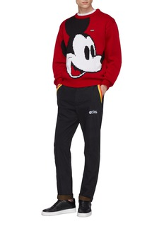 GCDS x Disney Mickey Mouse logo jacquard sweater