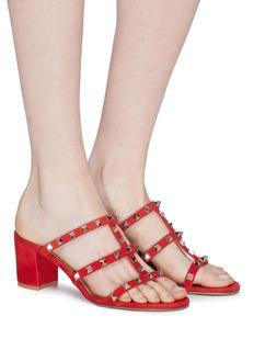 Valentino 'Rockstud' caged suede sandals