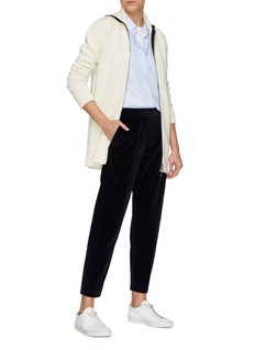 BARENA 'Loredan' elastic waist velour track pants