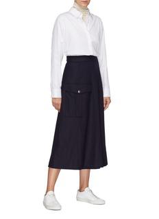 BARENA 'Frare' patch pocket gabardine skirt