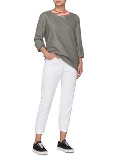 BARENA 'Igina' split cuff knit long sleeve T-shirt