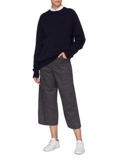 BARENA 'Frare' virgin wool cargo culottes