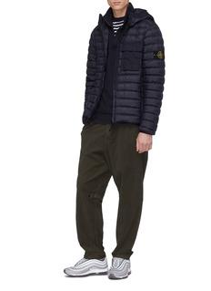 Stone Island Raglan sleeve half zip turtleneck sweatshirt