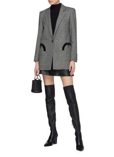 Blazé Milano 'Fair and Square' check wool melton timeless blazer