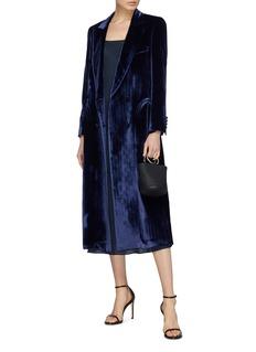 Blazé Milano 'Etoile' belted herringbone velvet blazer dress