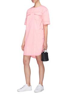 Cédric Charlier Button patch pocket placket outseam denim dress