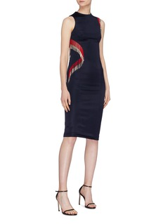 Galvan London 'Molten' beaded fringe dress