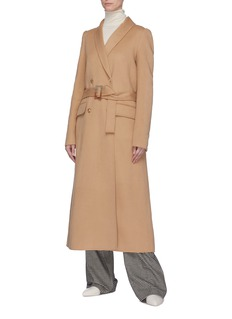 Gabriela Hearst 'Joaquin' pleated back belted cashmere melton coat