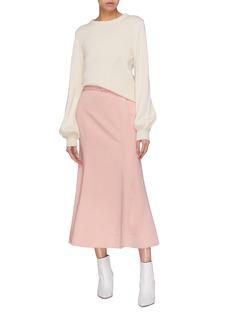 Gabriela Hearst 'Severino' belted virgin wool flared skirt