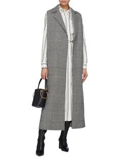 Gabriela Hearst 'Antonio' tweed back houndstooth check plaid sleeveless coat