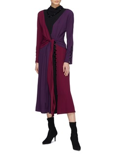 Marc Jacobs Glass crystal colourblock knot front crepe dress