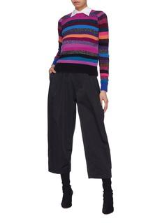 Marc Jacobs Sash tie neck stripe cashmere sweater