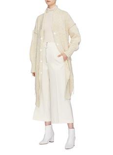 MAISON FLANEUR Zip front twill culottes
