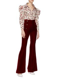 Johanna Ortiz 'Florecer' puff shoulder floral print shirt