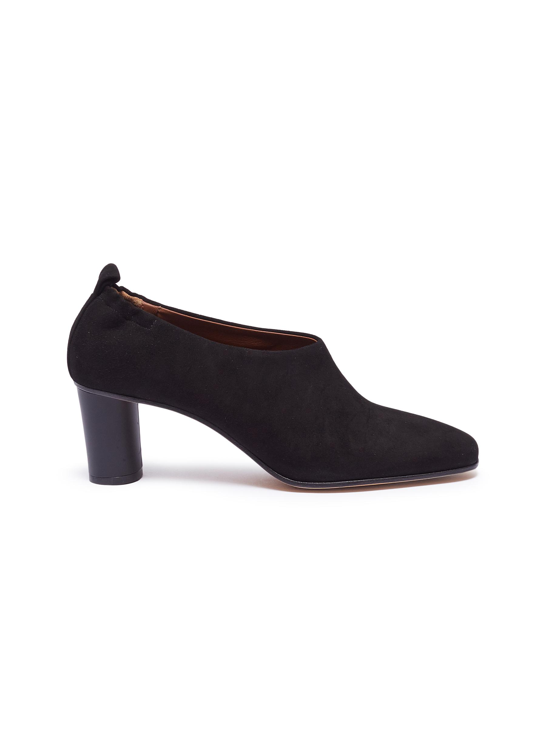 Micol choked-up suede pumps by Gray Matters