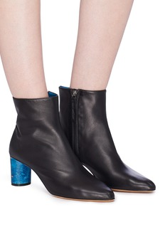 Gray Matters 'Monika' marble effect heel leather ankle boots