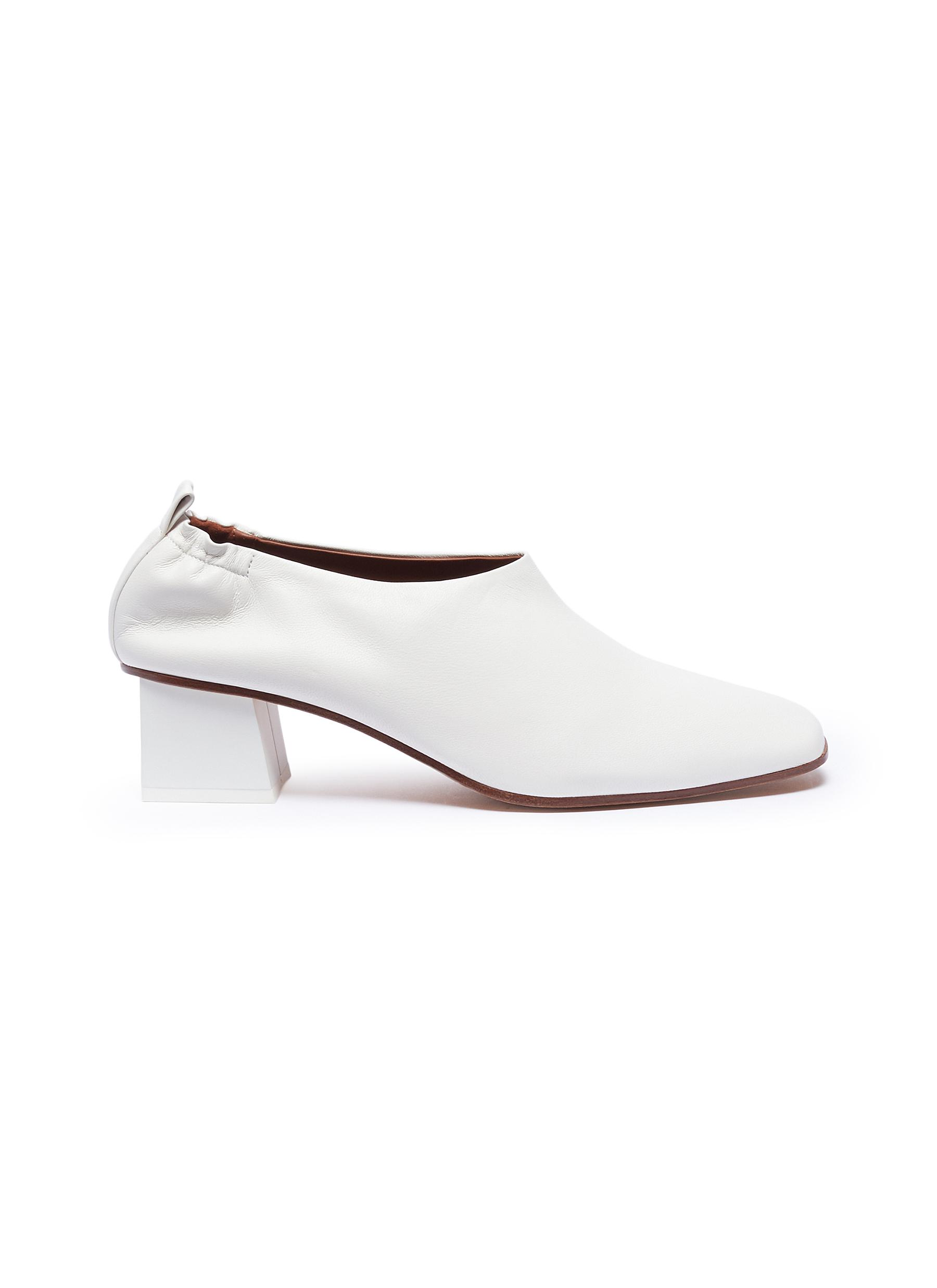 Micol Junior choked-up leather pumps by Gray Matters