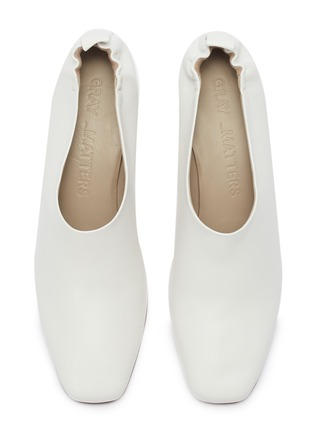 Detail View - Click To Enlarge - GRAY MATTERS - 'Micol' choked-up leather pumps