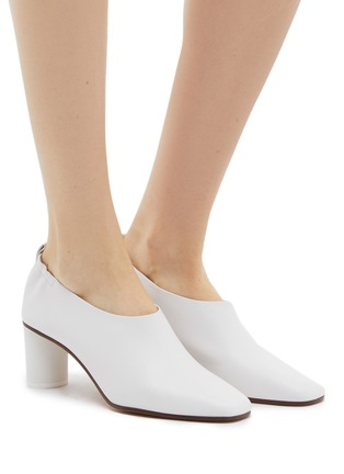 Figure View - Click To Enlarge - GRAY MATTERS - 'Micol' choked-up leather pumps