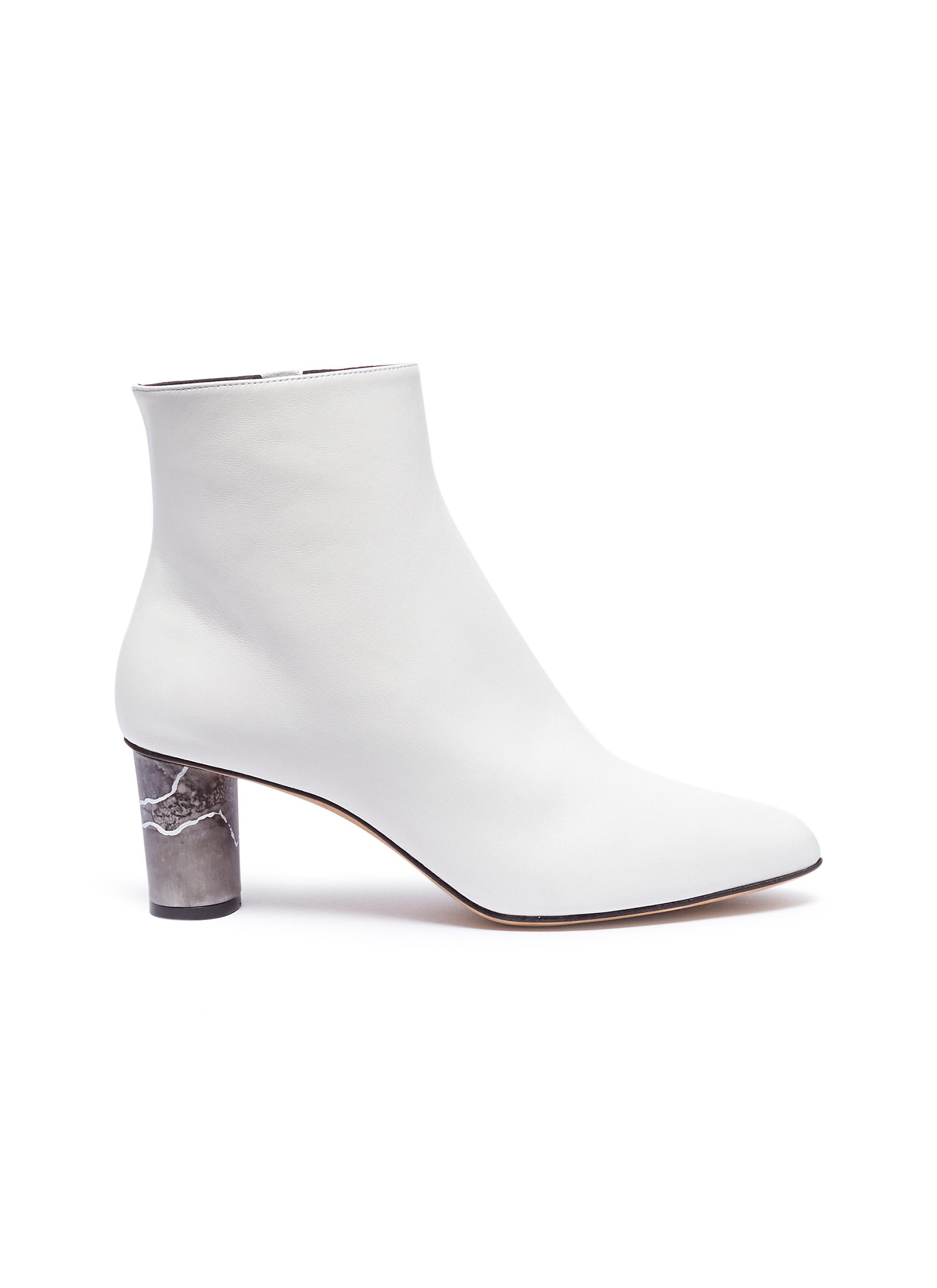 Monika marble effect heel leather ankle boots by Gray Matters