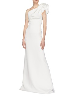 Maticevski 'Inclusive' gathered one-shoulder gown