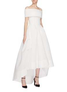 Maticevski 'Thorax' cutout off-shoulder high-low gown