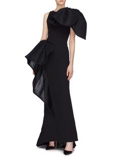 Maticevski 'Nocturnal' ruffle drape gown