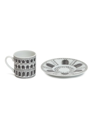Detail View - Click To Enlarge - FORNASETTI - Architettura coffee cup and saucer set