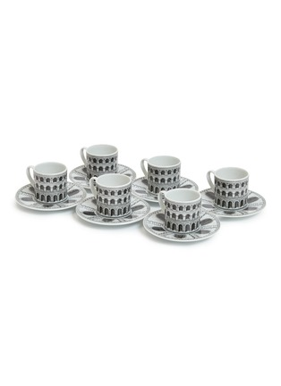 Main View - Click To Enlarge - FORNASETTI - Architettura coffee cup and saucer set