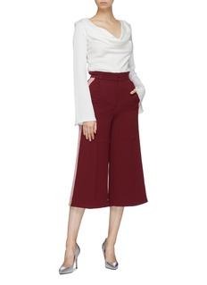 Roksanda 'Hasani' stripe outseam crepe culottes