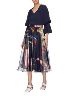 Roksanda 'Colvin' graphic print organdy skirt