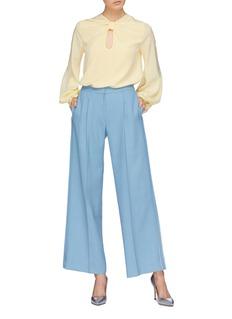 Roksanda 'Irina' twist keyhole front silk crepe top