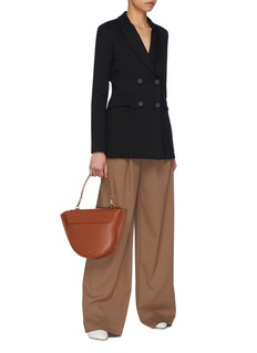 Rosetta Getty Houndstooth check wide leg pants
