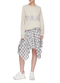 Collina Strada Detachable embellishment PVC pocket sweatshirt