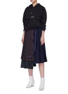 Collina Strada Tiara embellished grommet drape hoodie