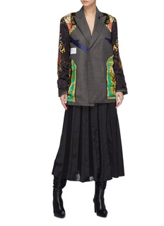TOGA ARCHIVES Reversible graphic print patchwork wool blazer