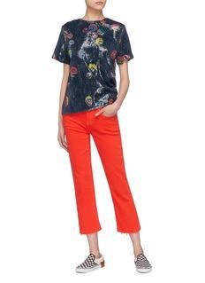 Mira Mikati Sequin emoji T-shirt