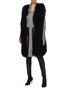 H Brand 'Alexa' lamb fur long gilet