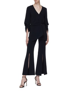 Roland Mouret 'Bacall' gathered drape crepe top
