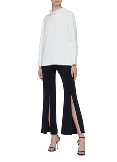 Roland Mouret 'Coupland' split back hem darted collar top